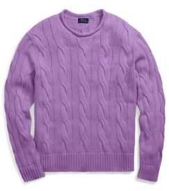 Ralph Lauren Boxy Cable Cotton Sweater Purple S