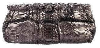 Valentino Embellished Python Clutch