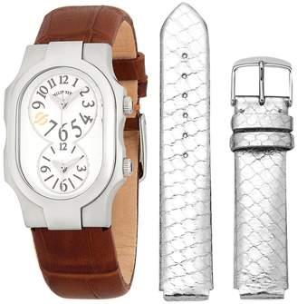 Philip Stein Teslar Women's Signature Leather Strap Watch