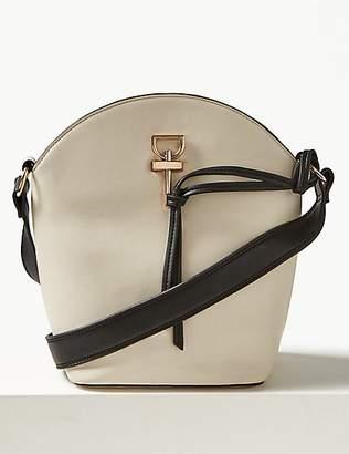 M&S Collection Faux Leather Tie Detail Shoulder Bag