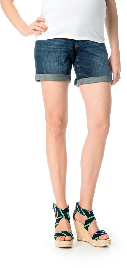 A Pea In The PodDl1961 Side Panel Cuffed Maternity Short