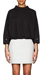 Ji Oh Women's Cotton Drawstring Top-Black