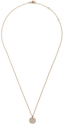 David Yurman 18kt yellow gold Cable Collectibles petit diamond pavé necklace