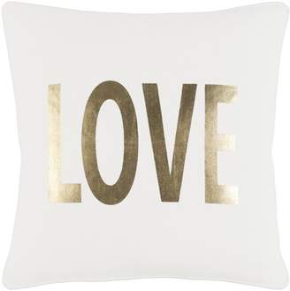 "Artistic Weavers Glyph Bold Love 18"" x 18"" Pillow Cover"
