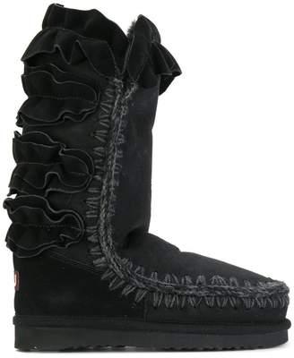 Mou ruffle detail winter boots