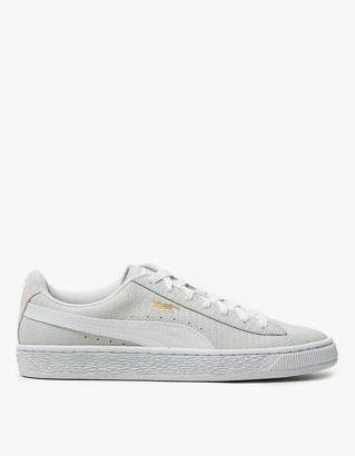 Suede Remaster Emboss in White $70 thestylecure.com