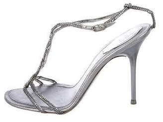 Rene Caovilla Strass Embellished T-Strap Sandals