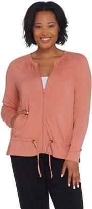 Anybody AnyBody Loungewear Cozy Knit Zip-up Jacket with Drawstring
