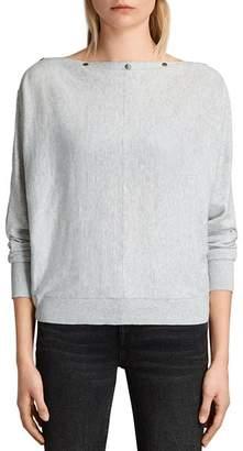 AllSaints Elle Snap-Detail Sweater