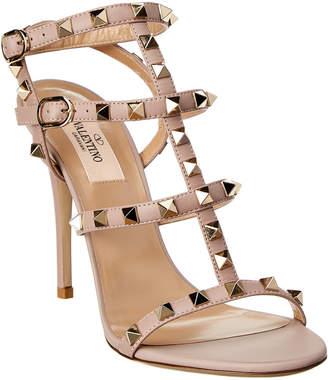 Valentino Rockstud Cage Leather Sandal