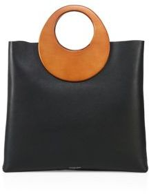 Michael Kors Collection Summerset Wooden-Handle Leather Tote $1,490 thestylecure.com