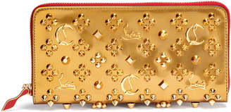 Christian Louboutin Panettone gold logo studded wallet
