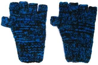 The Elder Statesman cashmere knitted fingerless gloves