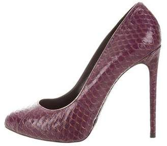 Dolce & Gabbana Embossed Pointed-Toe Pumps