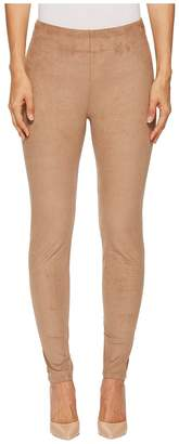 Lysse High-Waist Faux Suede Leggings Women's Casual Pants