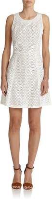 Suno Women's Eyelet Shift Dress