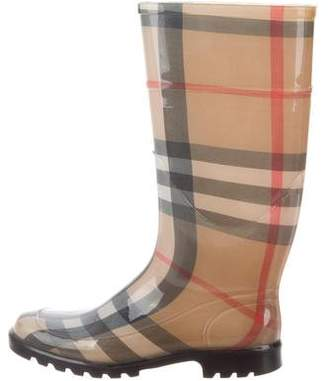 Burberry Rubber Nova Check Rain Boots