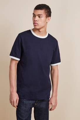 French Connenction Frans Jersey Tipped T-Shirt