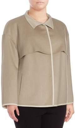 Lafayette 148 New York Women's Tiegs Topper - Khaki, Size 3x (22-24)
