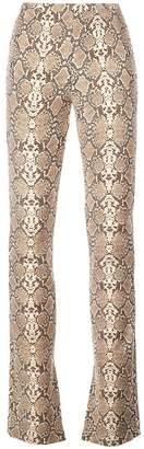Anine Bing python print cigarette trousers