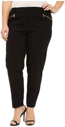 Calvin Klein Plus Plus Size Skinny Pants with Zippers Women's Casual Pants