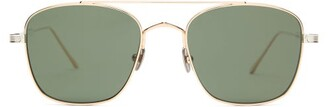 Cartier Eyewear - C De Aviator Titanium Sunglasses - Mens - Gold