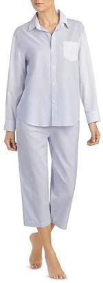 Lauren Ralph Lauren Petite Mixed Stripe Capri PJ Set