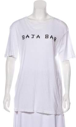 Baja East Distressed Graphic Print T-Shirt w/ Tags