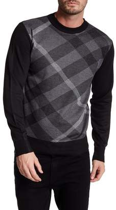 Yoki Diagonal Plaid Pullover Sweater