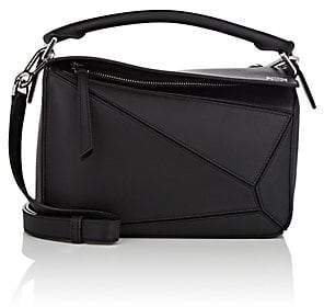 Loewe Women's Puzzle Small Leather Shoulder Bag - Black