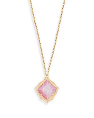 Kendra Scott Kacey Long Pendant Necklace in Gold