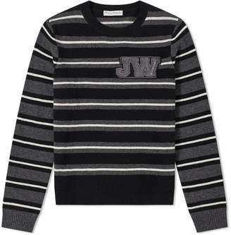 J.W.Anderson Logo Patch Stripe Crew Knit