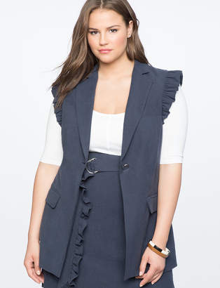 Ruffle Shoulder Vest