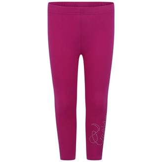 GUESS GuessGirls Purple Leggings With Diamante Logo