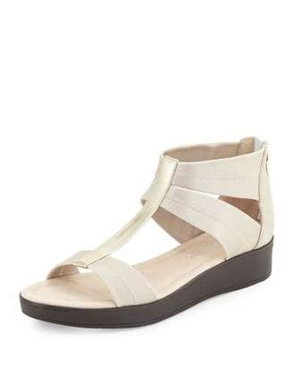 Donald J Pliner Voni Strappy Comfort Casual Sandal, Platino $198 thestylecure.com