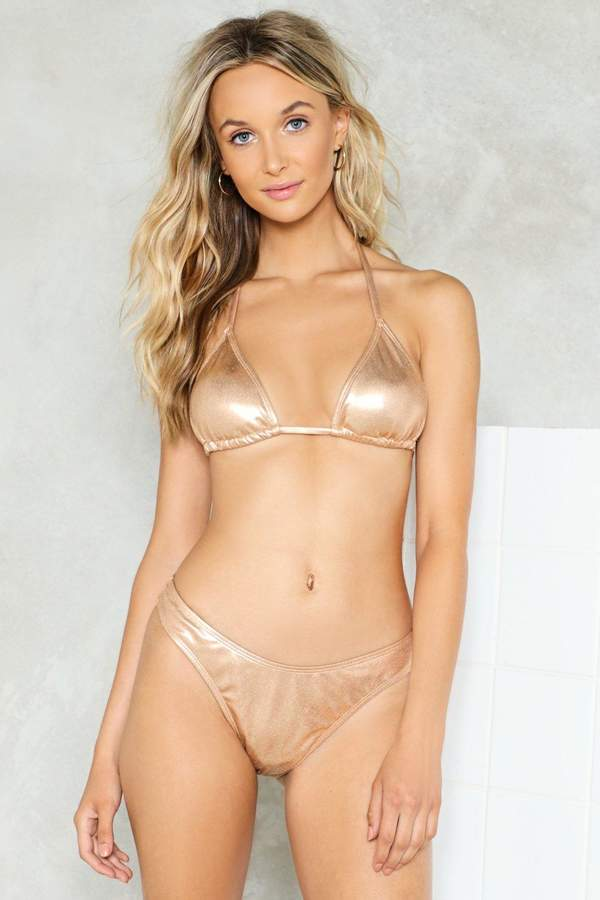 nastygal Clam Up Mid-Rise Bikini Bottom
