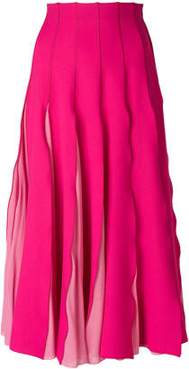 Capucci pleated midi skirt