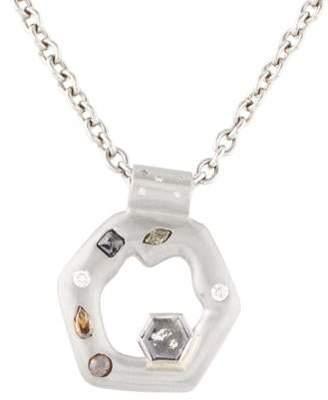 Palladium Lisa Des Camps Diamond Pendant Necklace