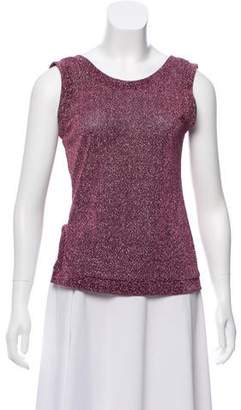 Sandy Liang Metallic-Accented Knit Top w/ Tags