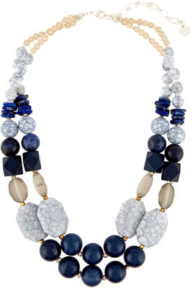 Nakamol Mixed Stone Double-Layer Statement Necklace