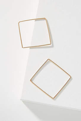 Hello Adorn Zelda Square 14K Gold-Filled Hoop Earrings