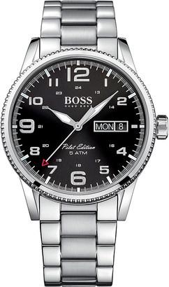 HUGO BOSS 1513327 pilot stainless steel watch $265 thestylecure.com