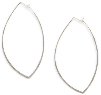 Kyler Leaf Hoop Earrings