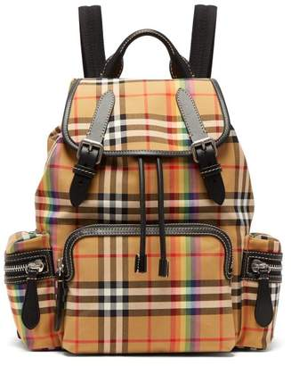 Burberry - Rainbow Vintage Check Medium Backpack - Womens - Brown Multi