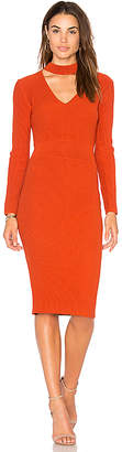 Endless Rose Knitted Bodycon Choker Dress in Rust $91 thestylecure.com