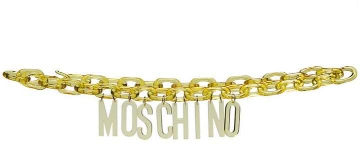 Moschino Acrylic Logo Belt