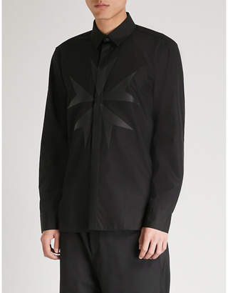 Neil Barrett Cross-print cotton shirt