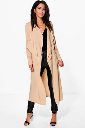 boohoo Erin Premium Woven Waterfall Duster $46 thestylecure.com