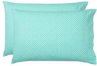 Pottery Barn Teen Snowball Dot Flannel Sheet Set, Extra Pillowcases, Set of 2, Pool