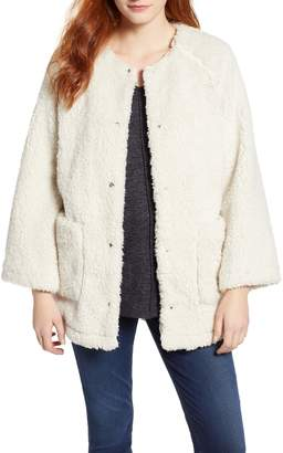 Caslon Fuzzy Fleece Jacket